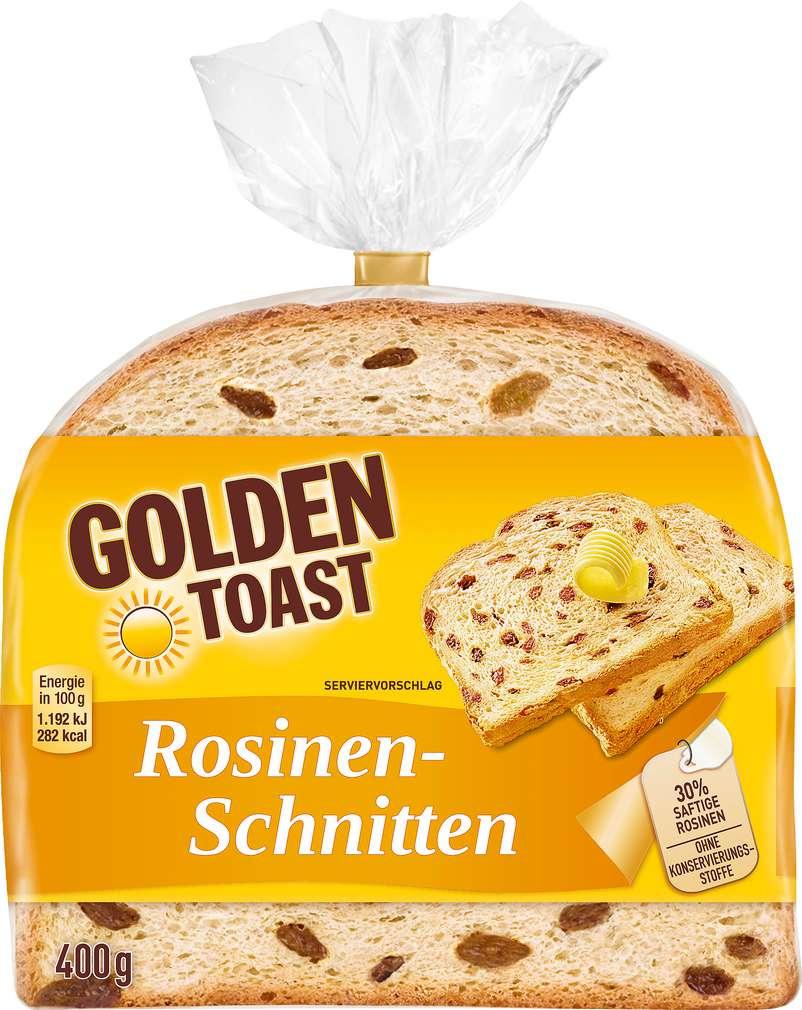 Abbildung des Sortimentsartikels Golden Toast Rosinenschnitten 400g