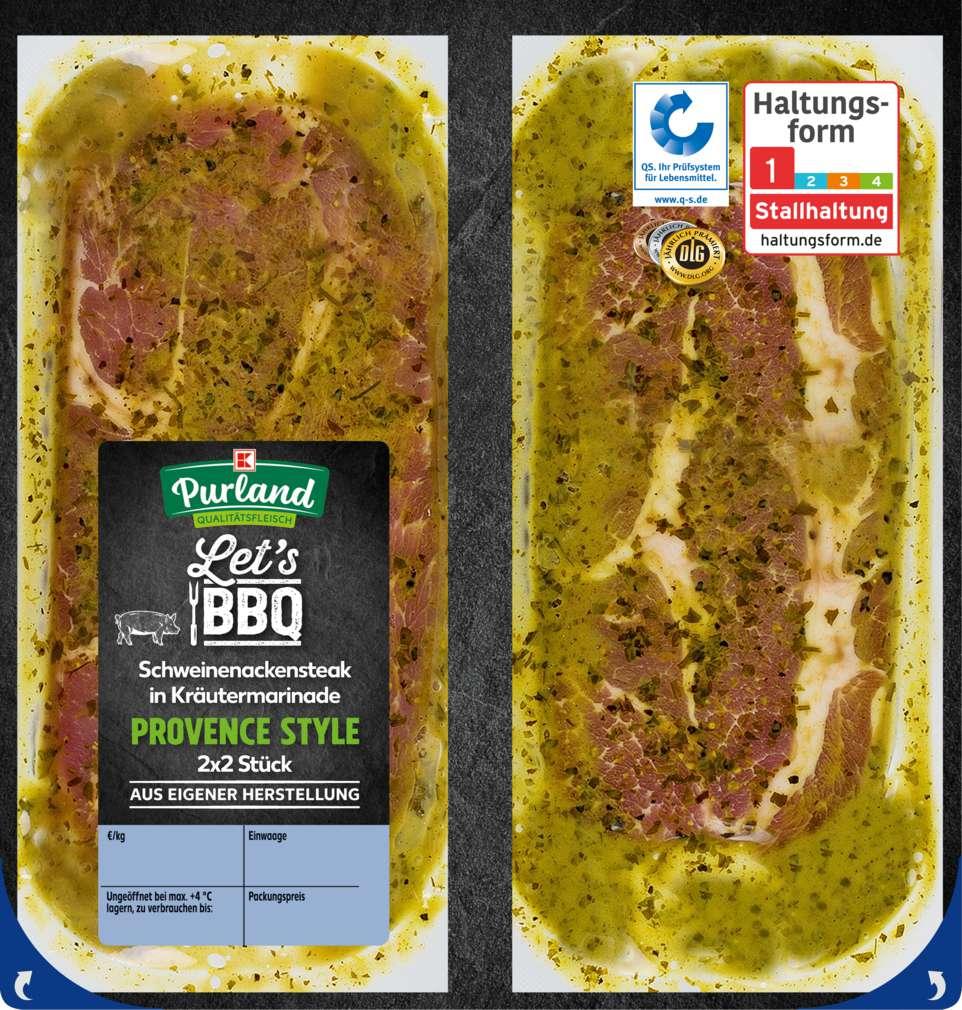 Abbildung des Sortimentsartikels K-Purland Steak Provence vom Nacken/Kamm mariniert