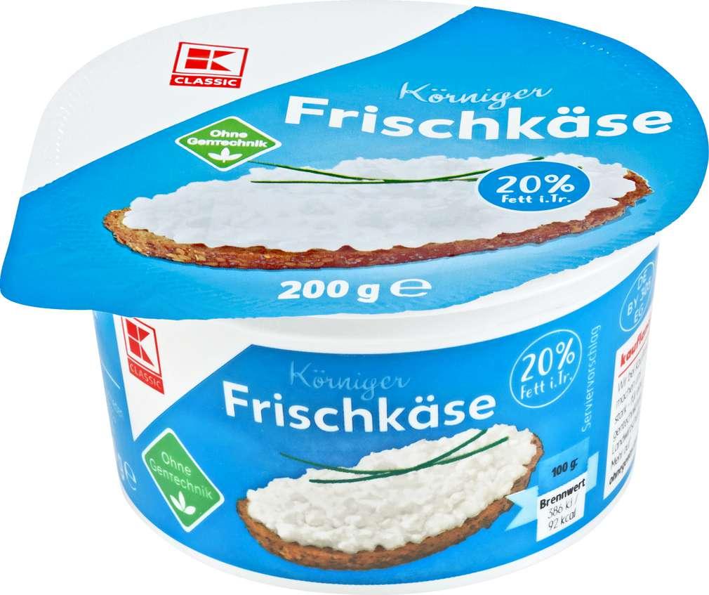Abbildung des Sortimentsartikels K-Classic Körniger Frischkäse 20% Fett i.Tr. 200g
