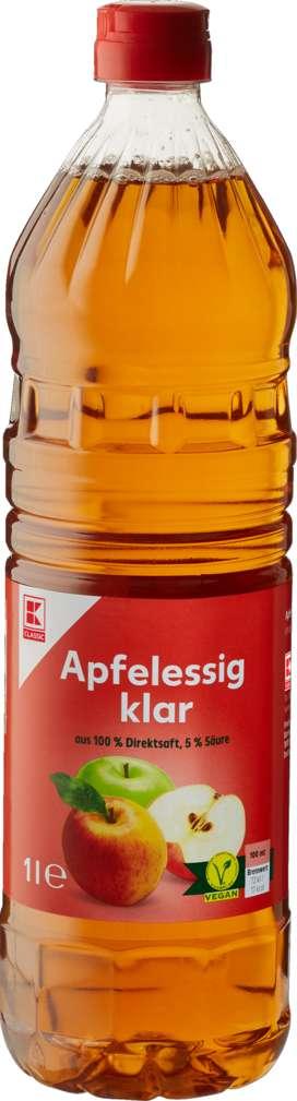 Abbildung des Sortimentsartikels K-Classic Apfelessig klar, 5% Säure 1,0l