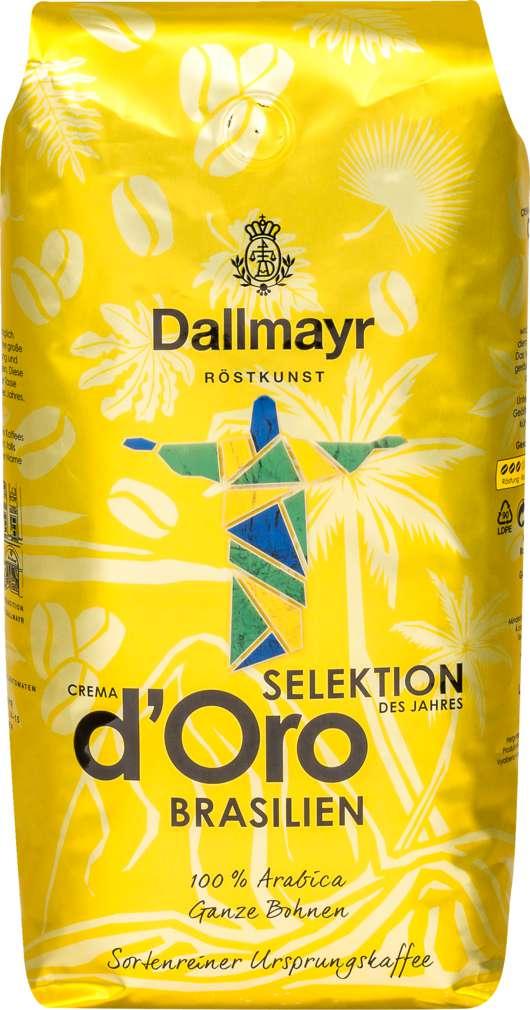 Abbildung des Sortimentsartikels Dallmayr Crema d'Oro Selektion des Jahres Kolumbien ganze Bohne 1000g