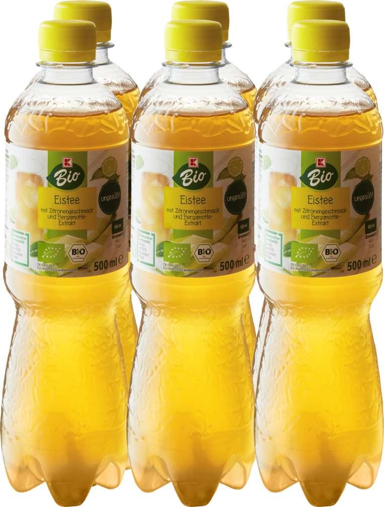 Abbildung des Sortimentsartikels K-Bio Eistee Zitrone Bergamotte 6x0,5L
