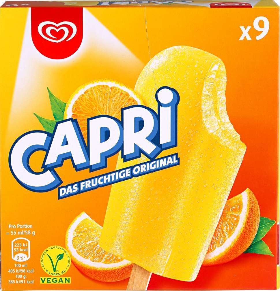 Abbildung des Sortimentsartikels Langnese Capri Eis 495ml, 9 Stück