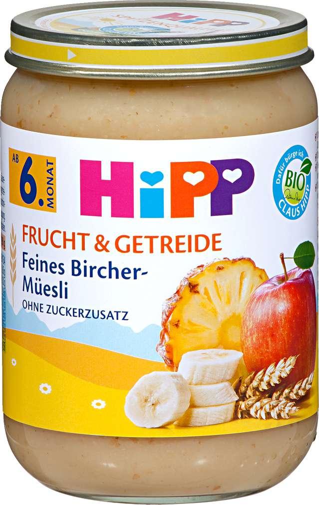 Abbildung des Sortimentsartikels Hipp Frucht & Getreide Feines Bircher-Müesli 190g