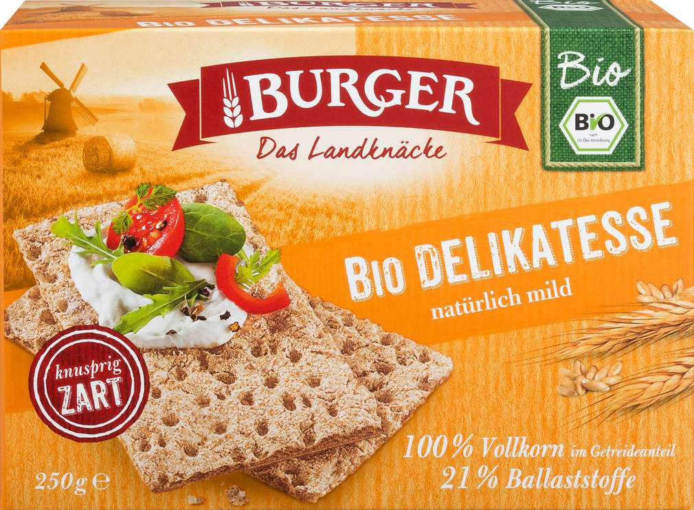 Abbildung des Sortimentsartikels Burger Bio Knäckebrot Delikatess 250g
