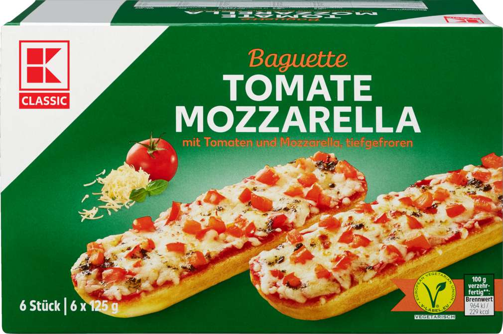 Abbildung des Sortimentsartikels K-Classic Baguette Tomate-Mozzarella 750g
