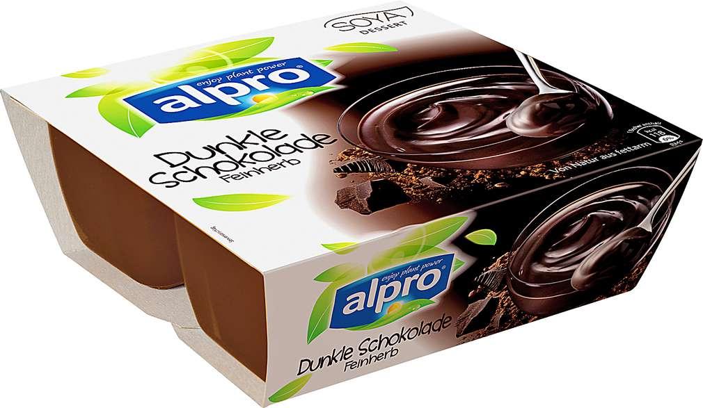 Abbildung des Sortimentsartikels Alpro Soya Dessert Dunkle Schokolade 4x125g