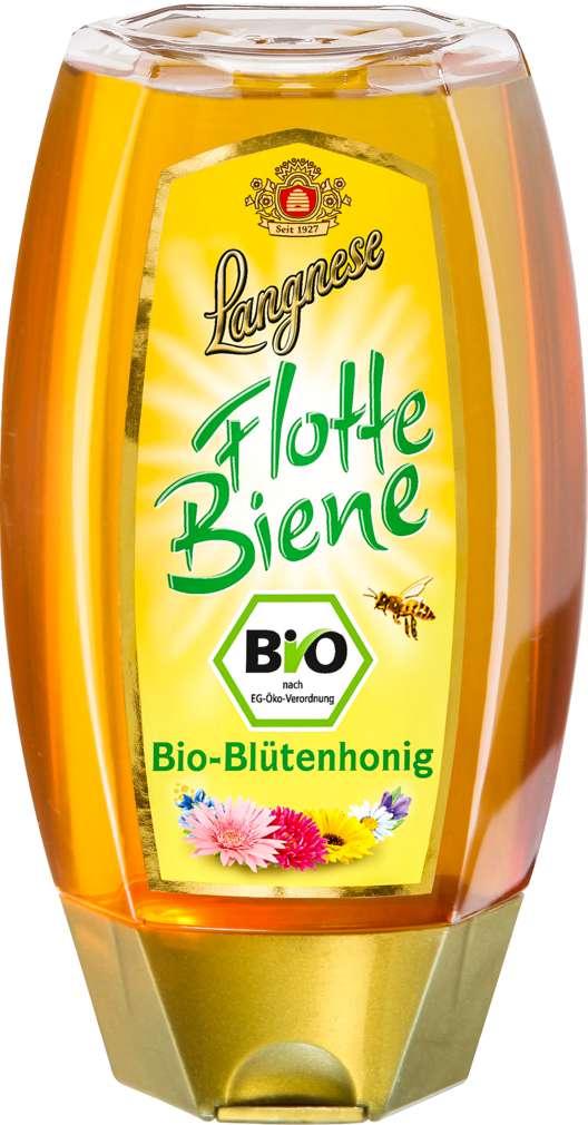Abbildung des Sortimentsartikels Langnese Flotte Biene Bio-Blütenhonig 250g