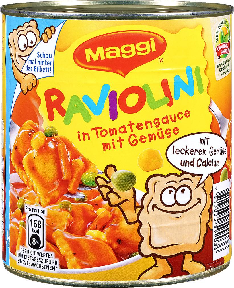 Abbildung des Sortimentsartikels Maggi Raviolini mit Gemüse 800g