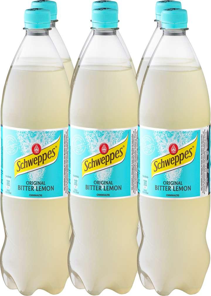 Abbildung des Sortimentsartikels Schweppes Bitter Lemon 6x1,25l