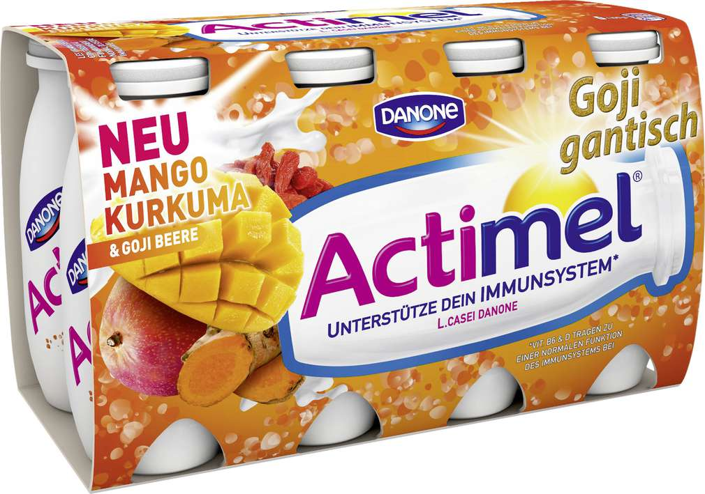 Abbildung des Sortimentsartikels Danone Actimel Drink Mango-Kurkuma-Goji 8x100g