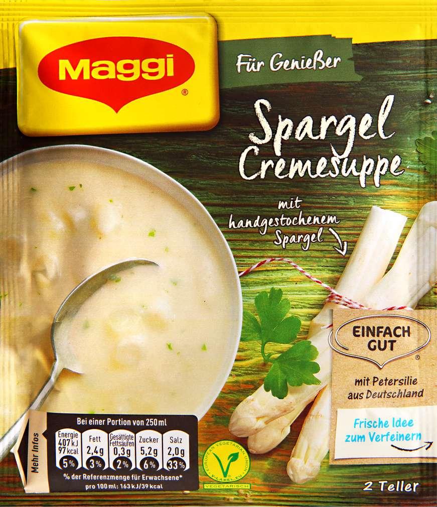 Abbildung des Sortimentsartikels Maggi Für Genießer Spargelcreme Suppe ergibt 500ml