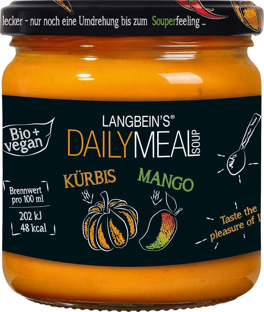 Abbildung des Sortimentsartikels Jürgen Langbein Bio-Suppe Kürbis Mango