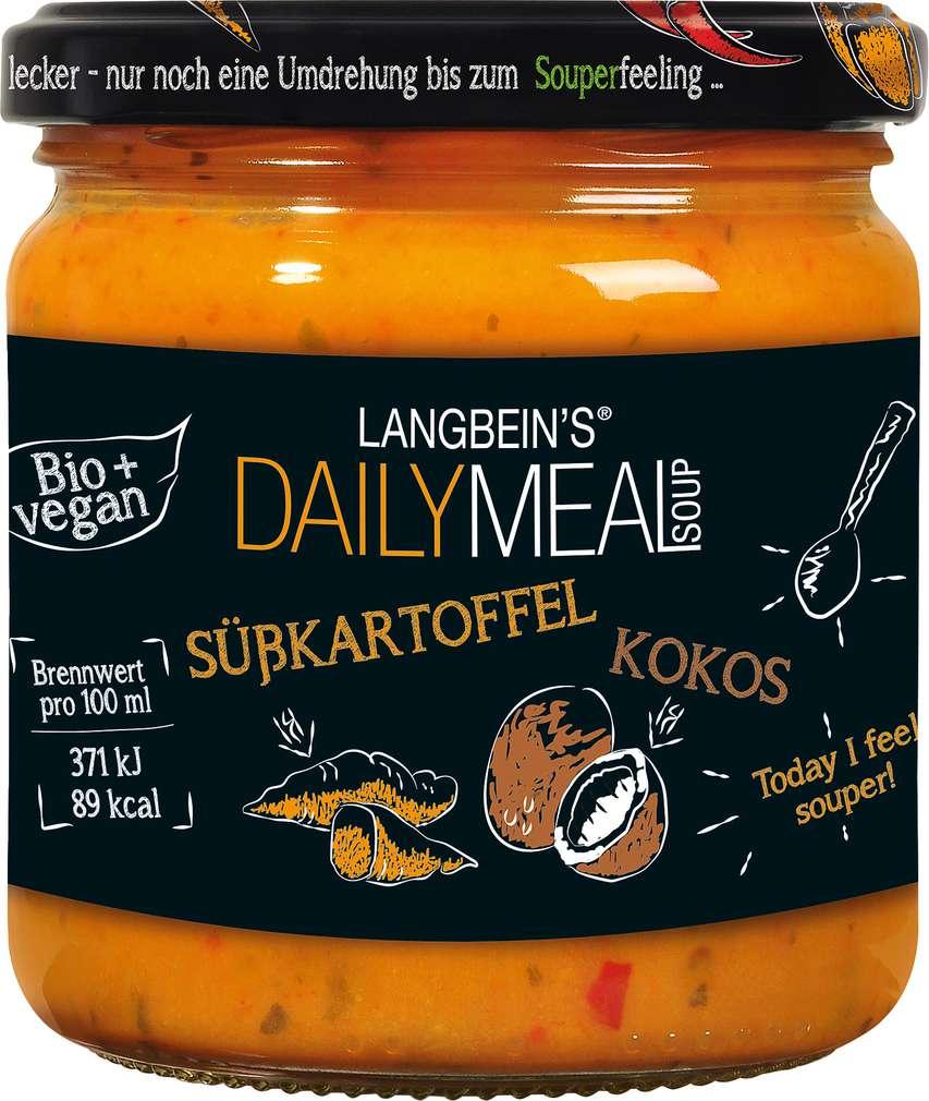 Abbildung des Sortimentsartikels Jürgen Langbein Bio Süßkartoffel-Kokos Suppe 350ml