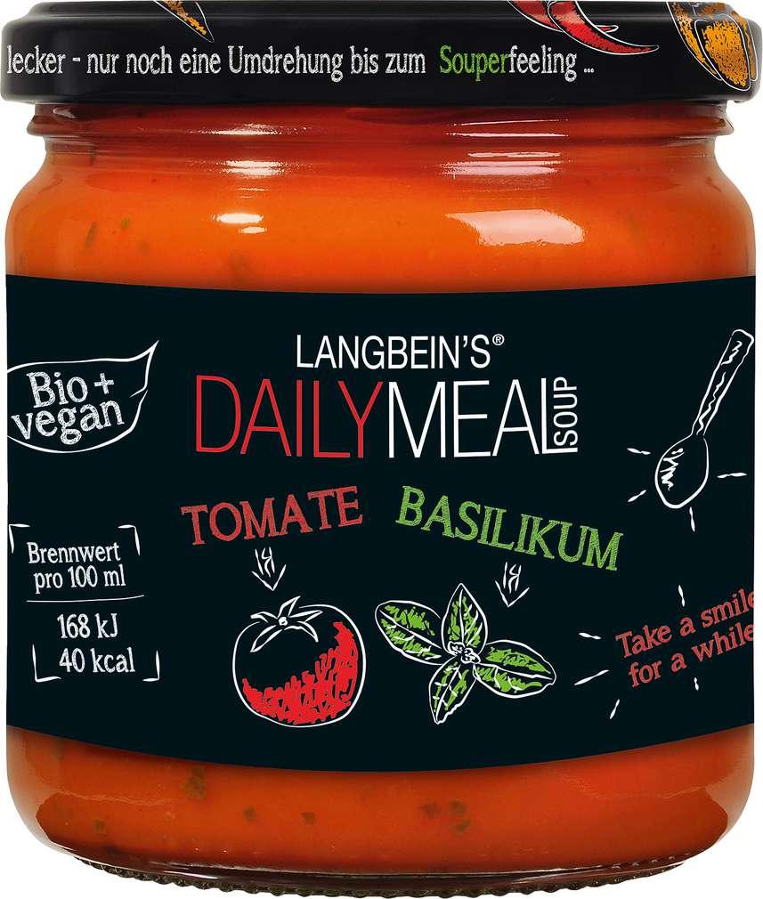 Abbildung des Sortimentsartikels Jürgen Langbein Bio Tomate-Basilikum Suppe 350ml