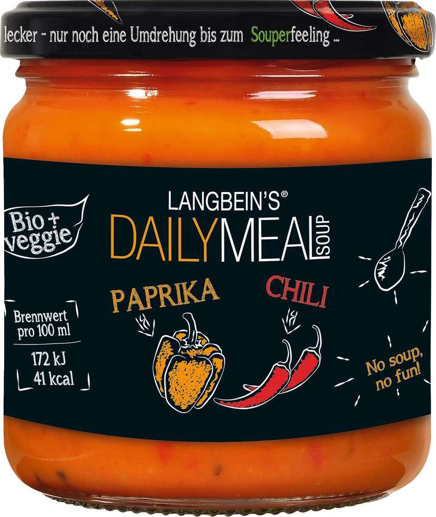 Abbildung des Sortimentsartikels Jürgen Langbein Bio Paprika-Chili Suppe 350ml