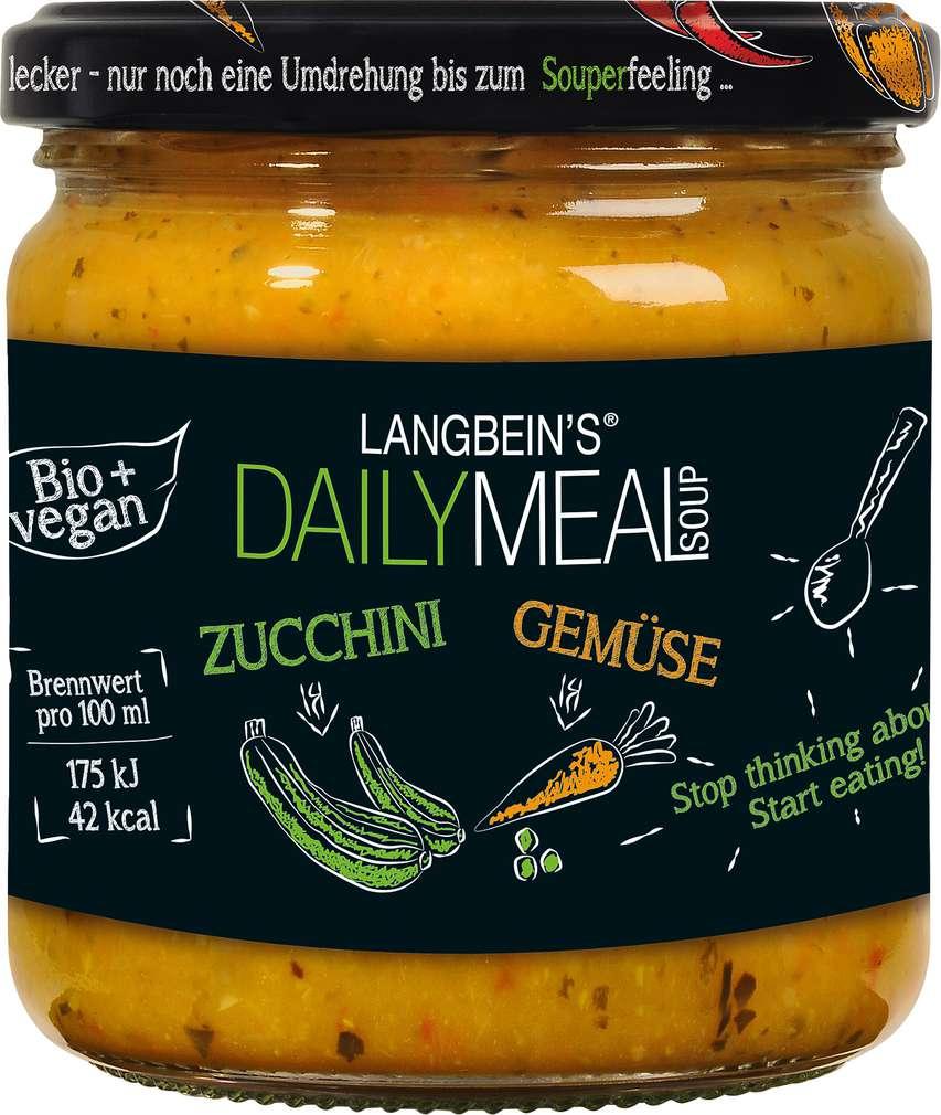 Abbildung des Sortimentsartikels Jürgen Langbein Bio Zucchini Suppe 350 ml