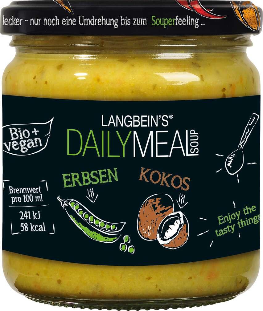 Abbildung des Sortimentsartikels Jürgen Langbein Bio Erbsen-Kokos Suppe 350 ml