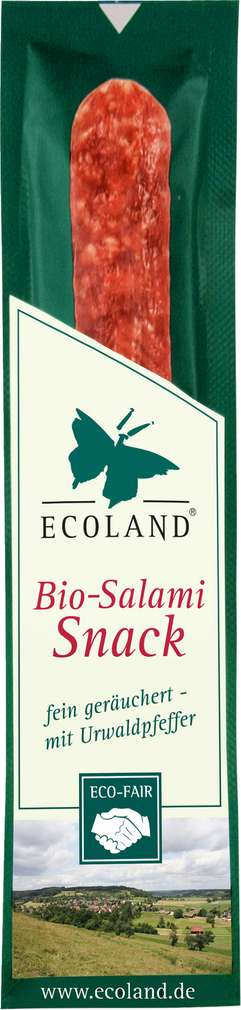 Abbildung des Sortimentsartikels BESH Bio Mini Salami Ecoland 25g