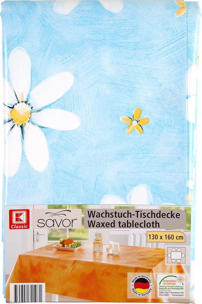 Abbildung des Sortimentsartikels K-Classic Savor Wachstuch-Tischtdecke Flower 130x160cm