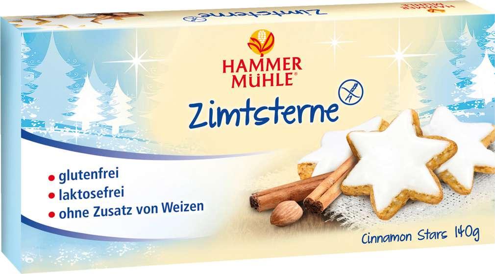 Abbildung des Sortimentsartikels Hammermühle Zimternsterne glutenfrei 140g