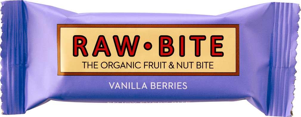 Abbildung des Sortimentsartikels Raw Bite Bio-Rohkostriegel Vanilla Berrie,vegan 50g