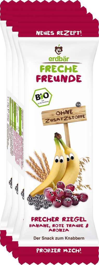Abbildung des Sortimentsartikels Erdbär Freche Freunde Getr.-Riegel Banane 1J 4x23g