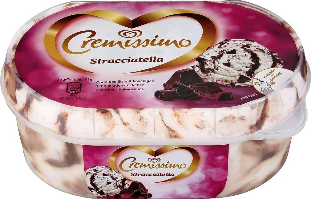 Abbildung des Sortimentsartikels Langnese Cremissimo Eis Stracciatella 900ml