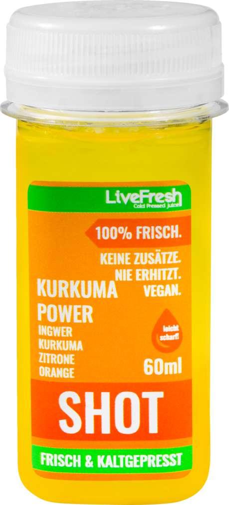 Abbildung des Sortimentsartikels LiveFresh Wellness Shot Kurkuma Power Tg 60ml