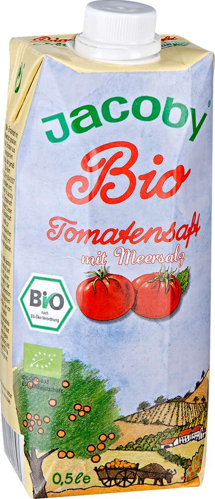 Abbildung des Sortimentsartikels Jacoby Bio Tomatensaft mit Meersalz 0,5l