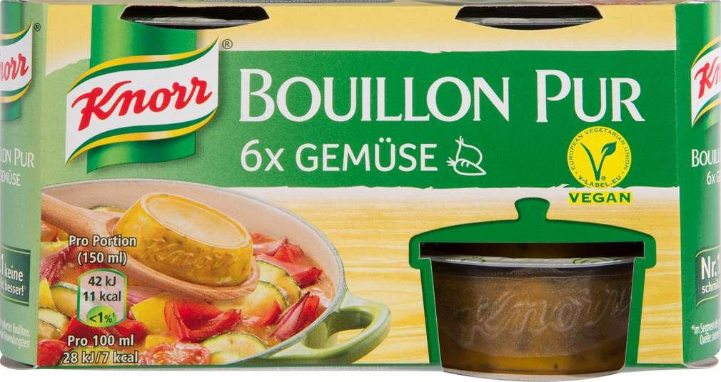 Abbildung des Sortimentsartikels Knorr Bouillon Pur Gemüse 6x28g