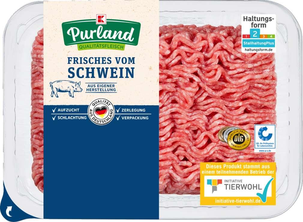 Abbildung des Sortimentsartikels K-Purland Schweinehackfleisch 500g