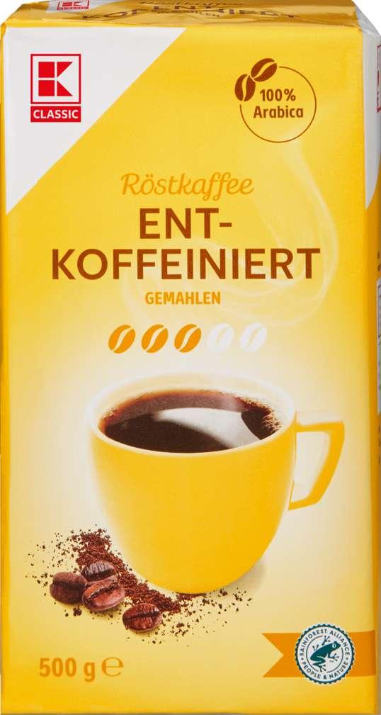 Abbildung des Sortimentsartikels K-Classic Schonkaffee Entkoffeiniert 500g
