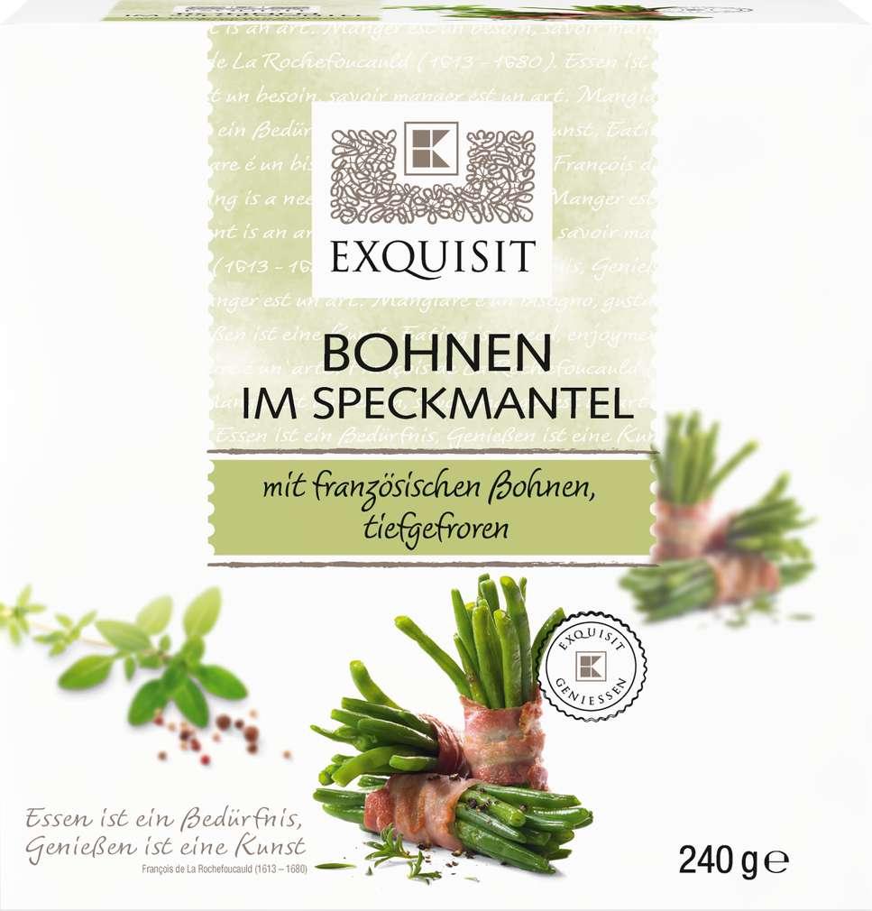 Abbildung des Sortimentsartikels Exquisit Bohnen im Speckmantel 240g