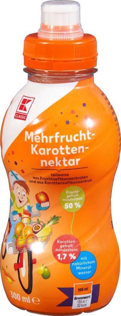 Abbildung des Sortimentsartikels K-Classic Kindergetränk Mehrfrucht 0,3l