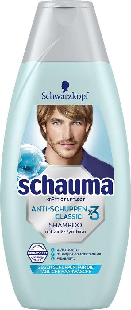 Abbildung des Sortimentsartikels Schwarzkopf Schauma Shampoo Anti-Schuppen Class. 400ml