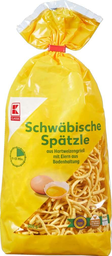 Abbildung des Sortimentsartikels K-Classic Hausmacher Spätzle mit Ei 500g