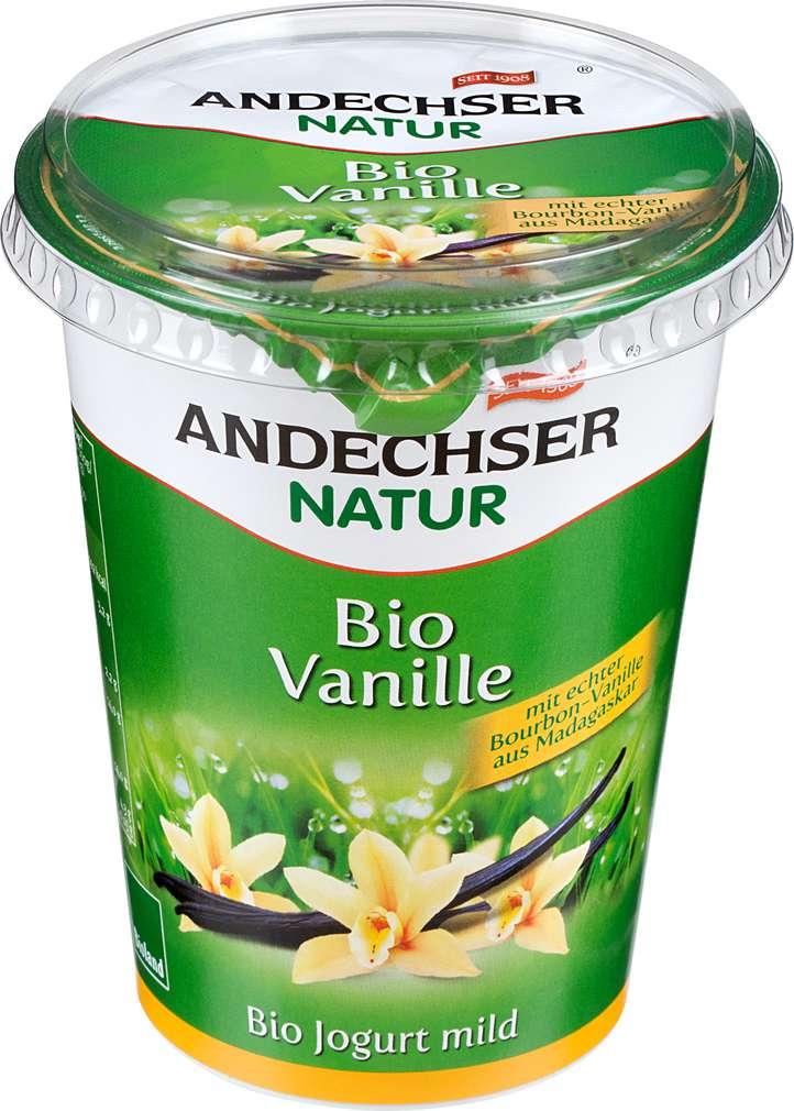 Abbildung des Sortimentsartikels Andechser Natur Bio-Jogurt mild Vanille 400g