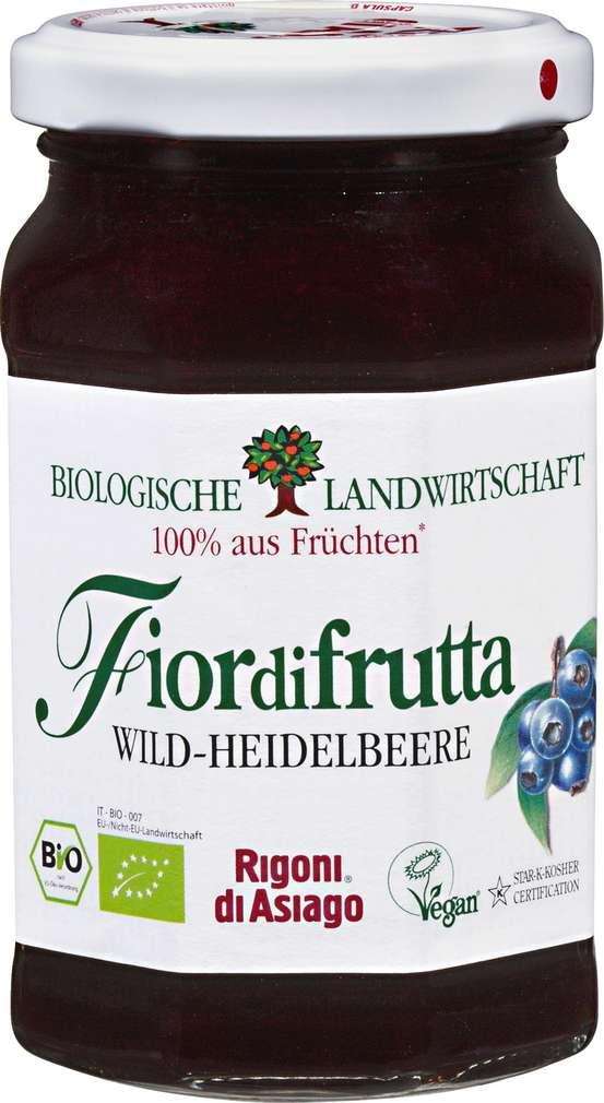Abbildung des Sortimentsartikels Fiordifrutta Fruchtaufstrich Wild-Heidelbeere Bio 250g