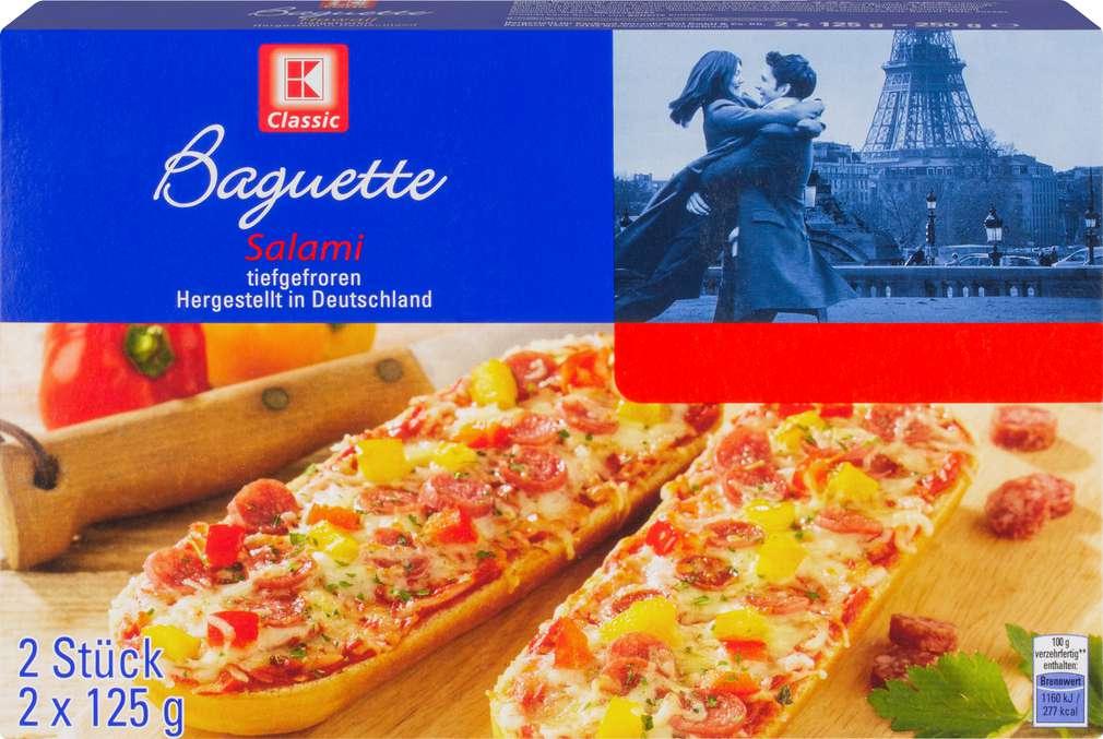Abbildung des Sortimentsartikels K-Classic Baguette Salami 2x125g