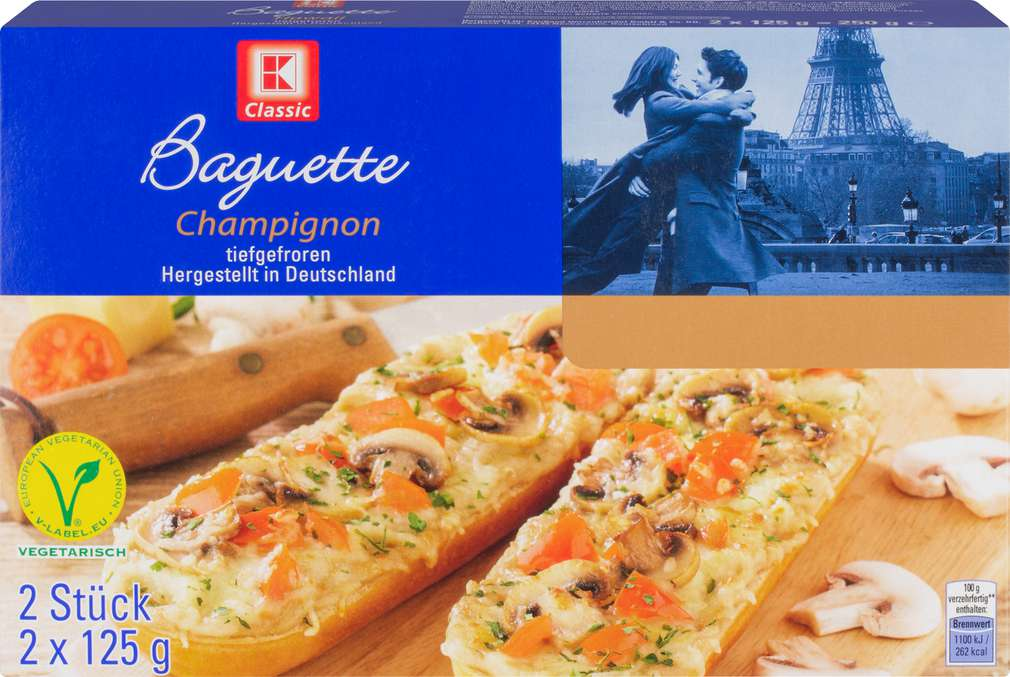Abbildung des Sortimentsartikels K-Classic Baguette Champignon 2x125g