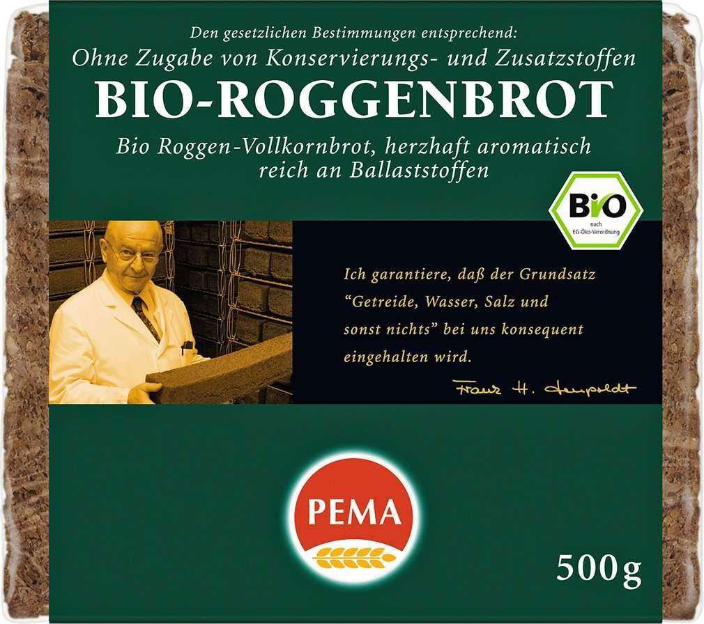 Abbildung des Sortimentsartikels Pema Bio-Roggenbrot 500g