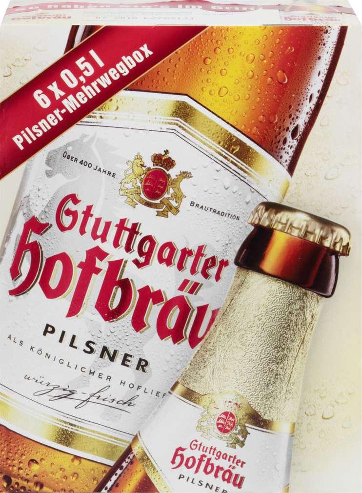 Abbildung des Sortimentsartikels Stuttgarter Hofbräu Pilsner 6x0,5l