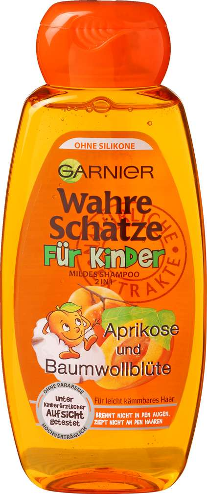 Abbildung des Sortimentsartikels Garnier Wahre Schätze Shampoo Für Kinder Aprikose und Baumwollblüte 300ml