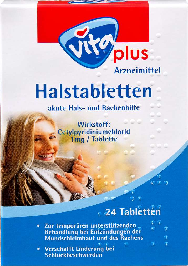 Abbildung des Sortimentsartikels Vita plus Halstabletten 24 Stück