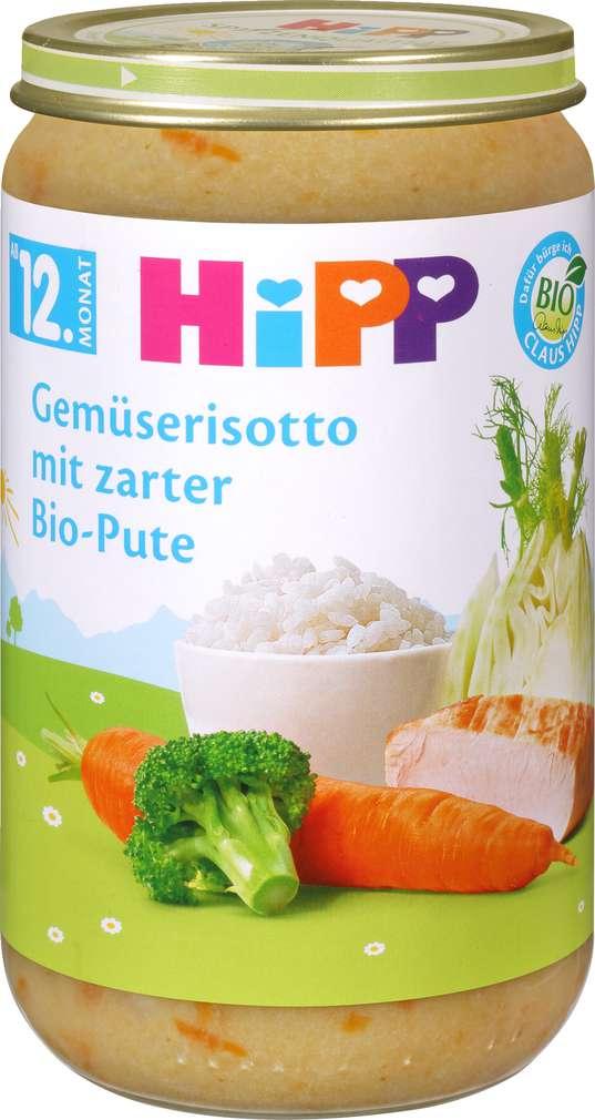 Abbildung des Sortimentsartikels Hipp Gemüserisotto mit zarter Bio-Pute 250g