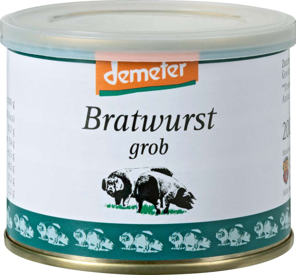Abbildung des Sortimentsartikels BESH Demeter Bratwurst 200g