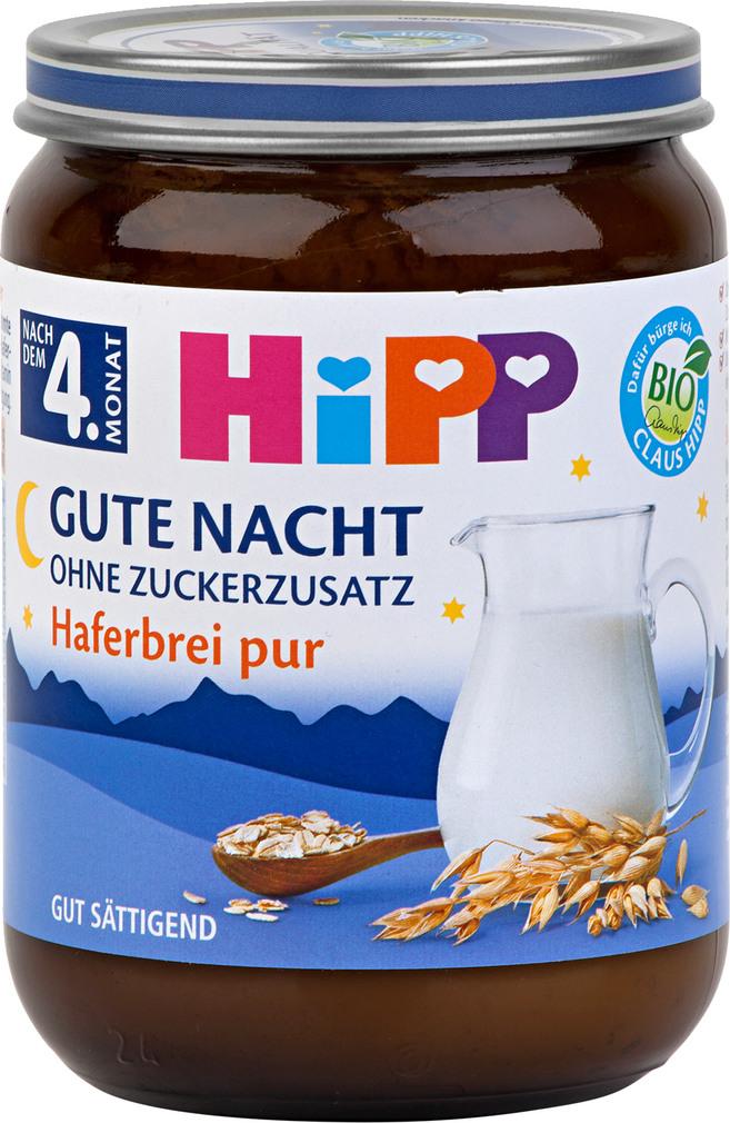 Abbildung des Sortimentsartikels Hipp Gute Nacht ohne Zuckerzusatz Haferbrei pur 190g