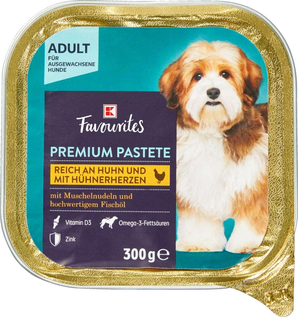 Abbildung des Sortimentsartikels K-Favourites Hundenahrung Premium Pastete Huhn mit Hühnerherz 300g