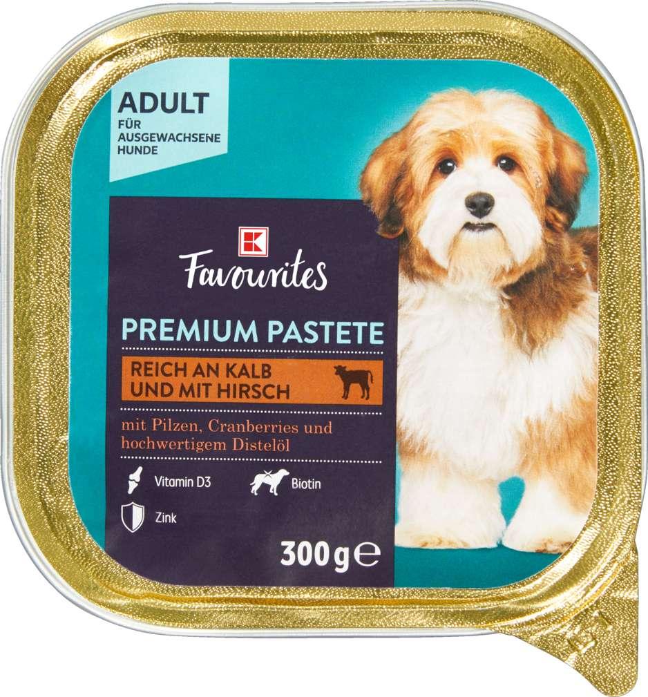 Abbildung des Sortimentsartikels K-Favourites Hundenahrung Kalb mit Hirsch 300g